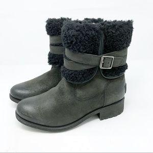 UGG Boots 9 Black Blayre III Wool Bootie
